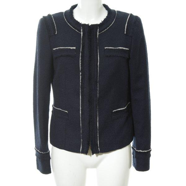 esprit collection Sweatblazer dunkelblau-weiß Casual-Look
