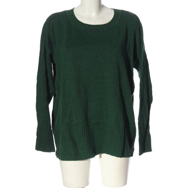 Esprit Feinstrickpullover grün meliert Casual-Look