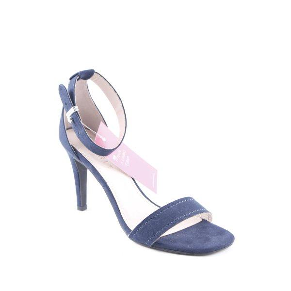 Esprit High Heel Sandaletten dunkelblau Elegant