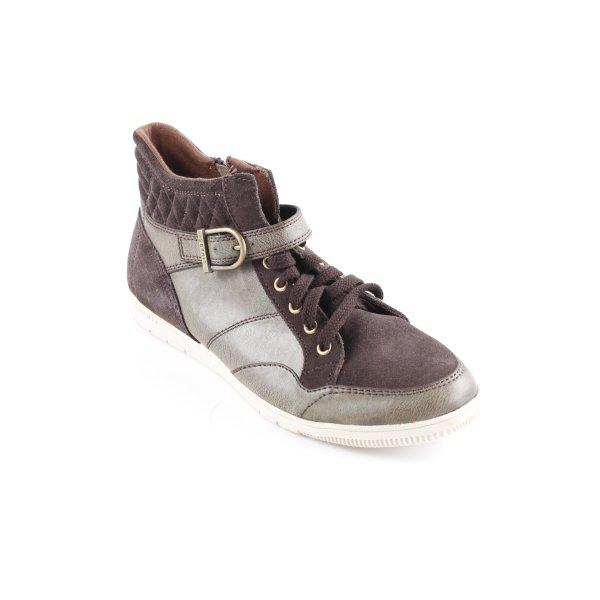 Esprit High Top Sneaker schwarzbraun-grüngrau Casual-Look