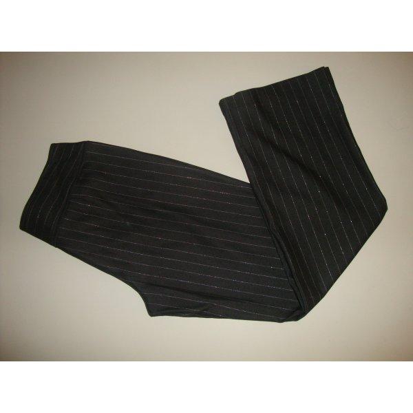 Esprit Hose Anzugshose Nadelstreifen Stretch Flat Gr. 40 schwarz grau wie neu