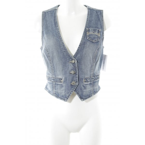 Esprit Gilet en jean bleu style décontracté