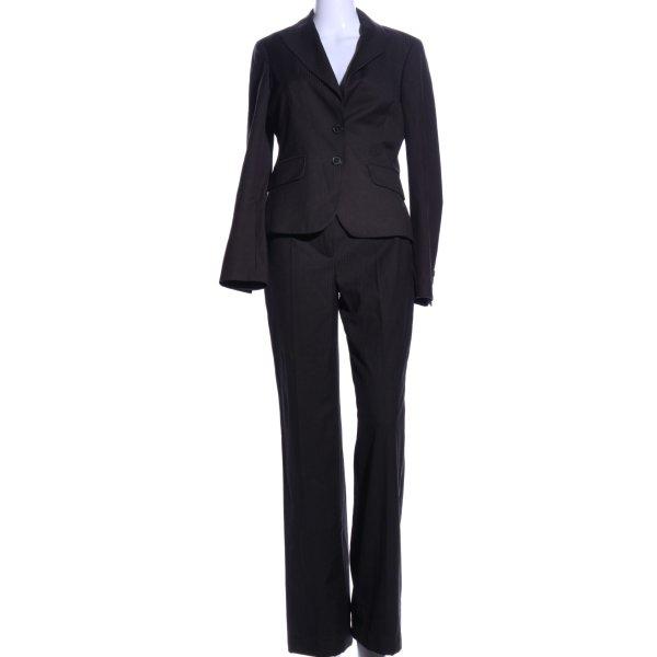 Esprit Traje a rayas negro estampado a rayas estilo «business»