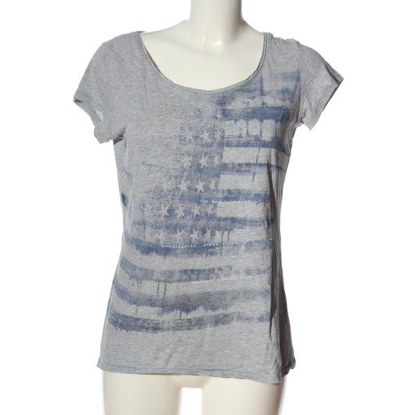 Esprit Print-Shirt hellgrau-blau Motivdruck Casual-Look