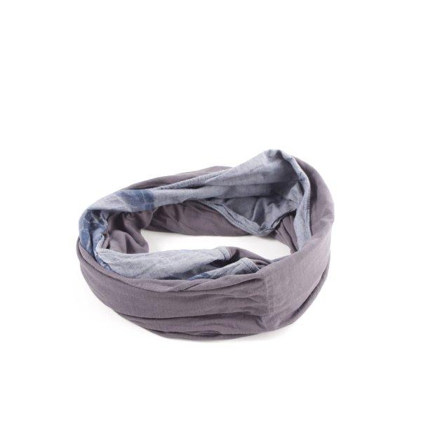 Esprit Rundschal hellgrau-blau Motivdruck Casual-Look