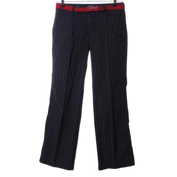 Esprit Stoffhose schwarz-weiß Streifenmuster Business-Look