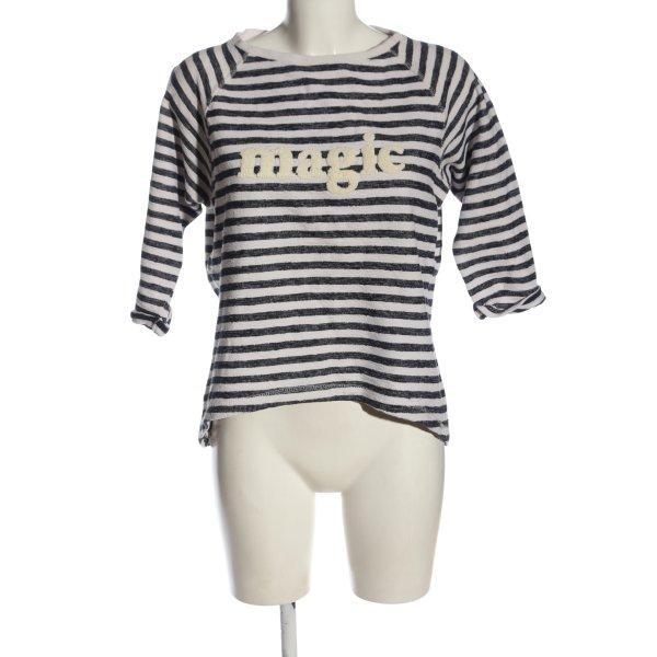 Esprit Sweatshirt wollweiß-schwarz Allover-Druck Casual-Look