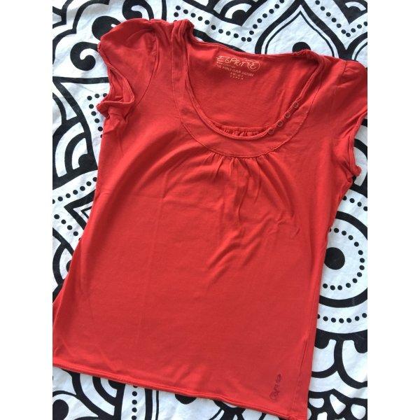 Esprit t-Shirt rot Gr. S kurzarm Shirt rundhals