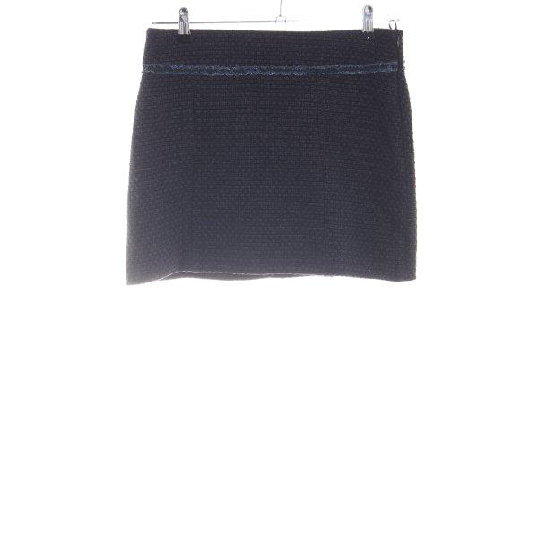 Esprit Tweedrock schwarz-blau Webmuster Business-Look