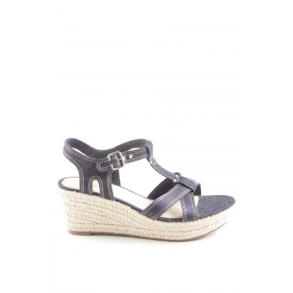 Esprit Wedges Sandaletten blau Casual-Look