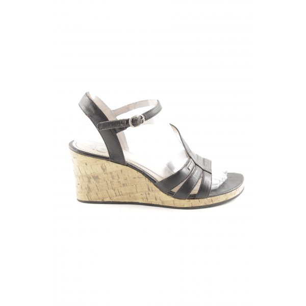 Esprit Wedges Sandaletten schwarz Elegant