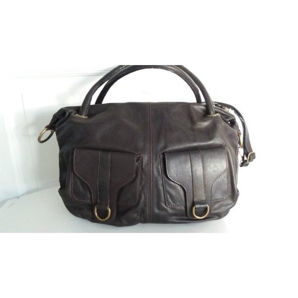 ESTELLE   Lederhandtasche, feines Kalbsleder mit modernem Detail NEU !!!