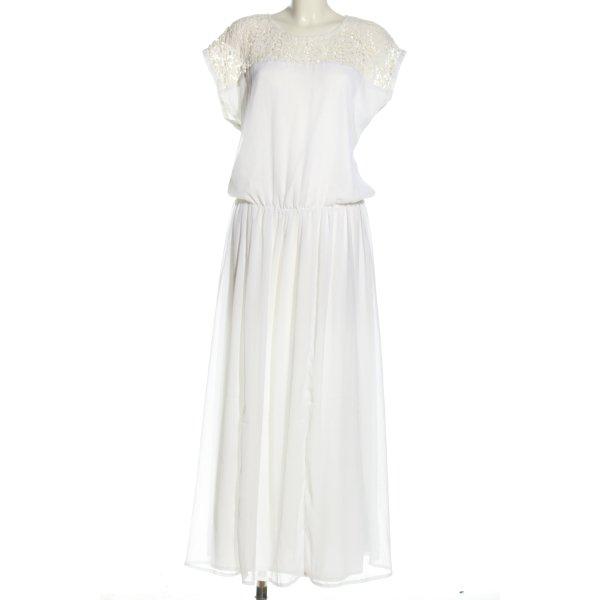 Evaw Wave Blusenkleid weiß Elegant