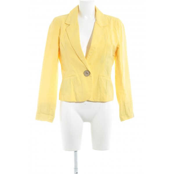 Evaw Wave Kurz-Blazer gelb Casual-Look
