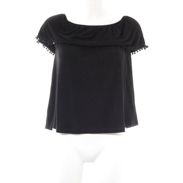 Even & Odd Carmenshirt schwarz Casual-Look