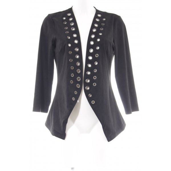 Even & Odd Shirt Jacket black biker look