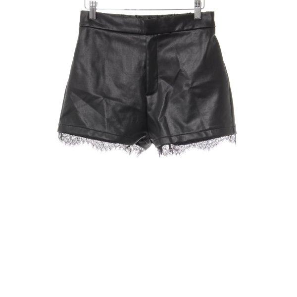 Even & Odd Shorts schwarz Lack-Optik