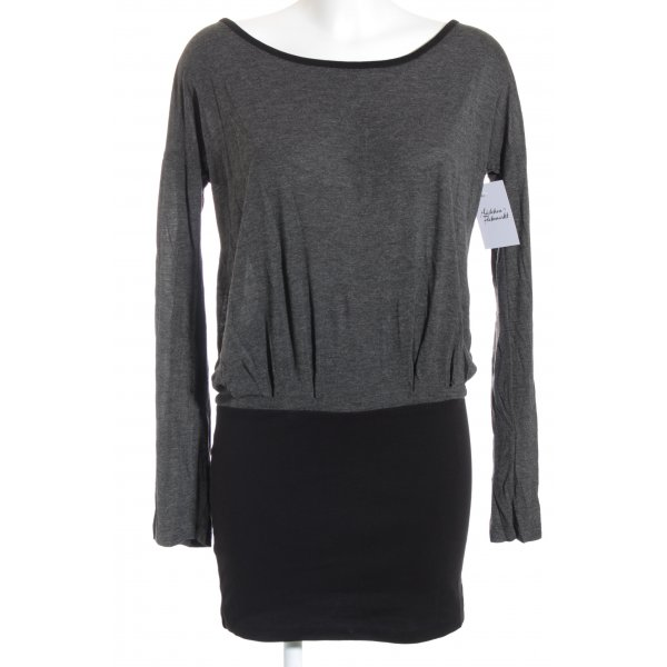 Even & Odd Vestido de tela de sudadera negro-gris look casual