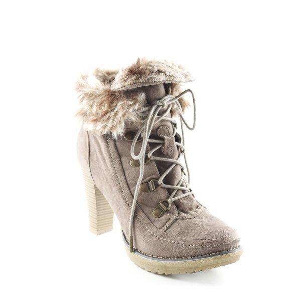Even & Odd Winter-Stiefeletten hellbraun-graubraun Casual-Look