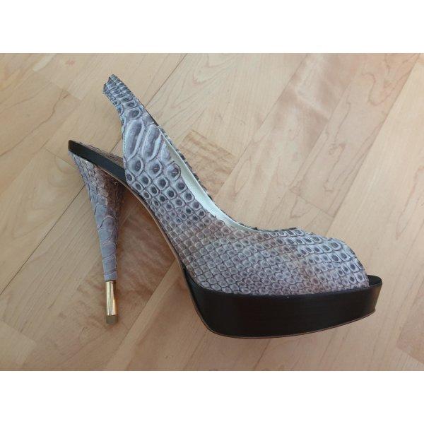 """Exclusive Designer High Heels Peeptoe """"Baldan"""", Gr. 39"""
