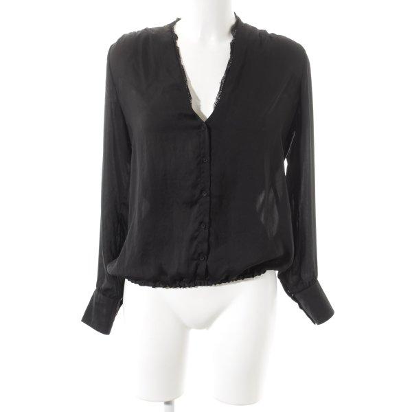 Expresso Langarm-Bluse schwarz Casual-Look