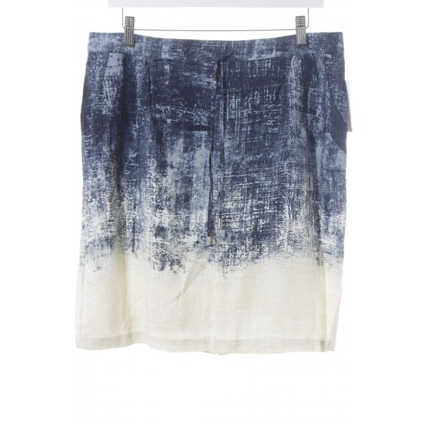 Expresso Minirock dunkelblau-graublau abstraktes Muster Casual-Look