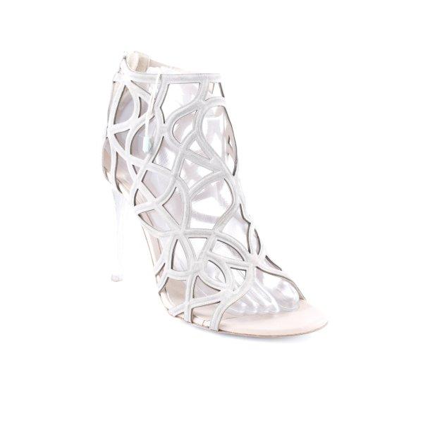 Fabi High Heel Sandaletten hellgrau-wollweiß Elegant