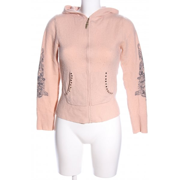 Faith connexion Cashmerepullover nude-schwarz Motivdruck Casual-Look