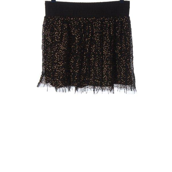 Farina Opoku Minirock schwarz-goldfarben Elegant