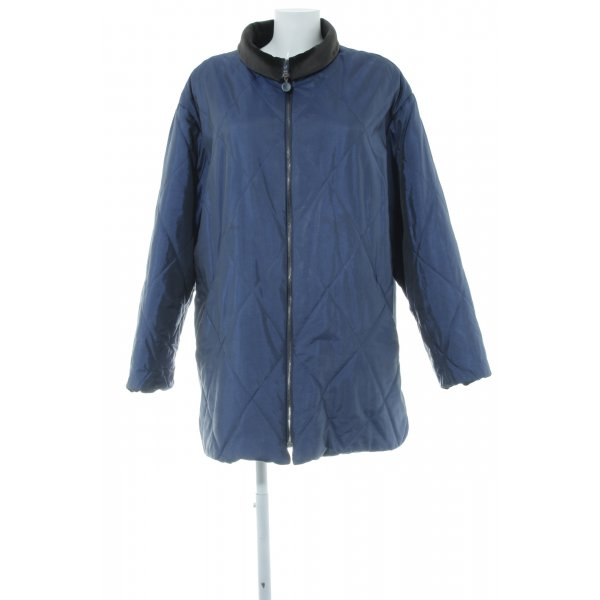 Fashion concept Oversized Jacke stahlblau Steppmuster Casual-Look