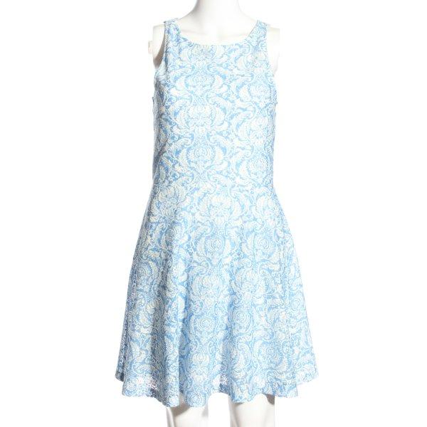 FB Sister Trägerkleid blau-weiß Allover-Druck Casual-Look