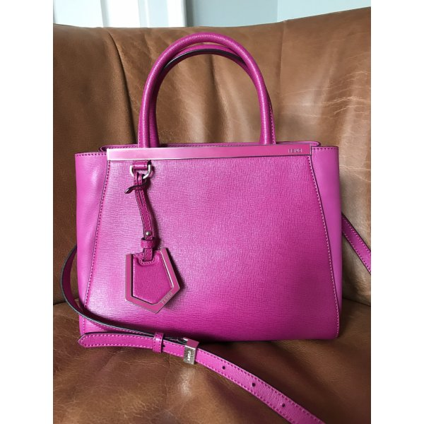 Fendi 2 jours Handtasche fuchsia / pink Leder