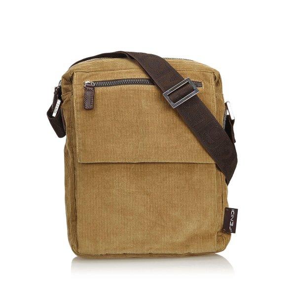 Fendi Corduroy Crossbody Bag