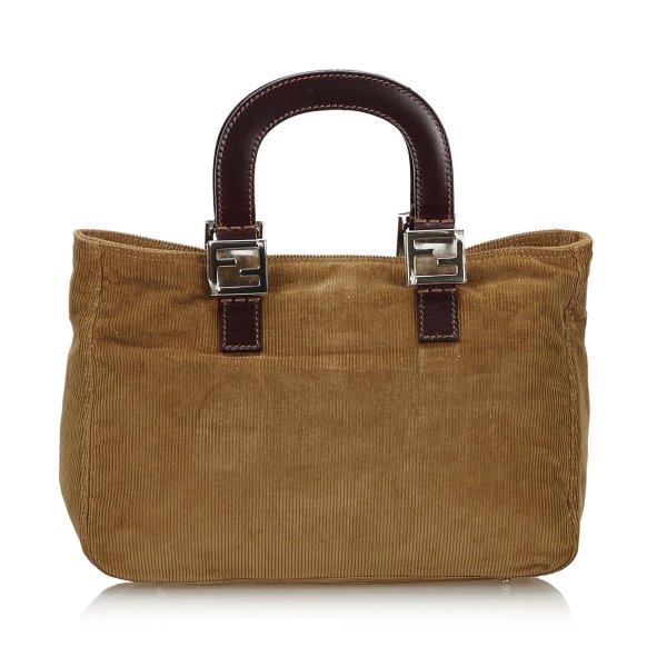 Fendi Corduroy Handbag