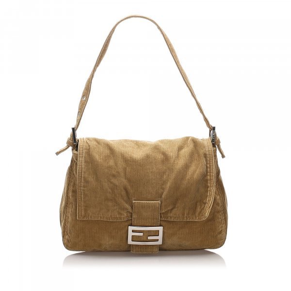 Fendi Corduroy Mamma Forever Shoulder Bag