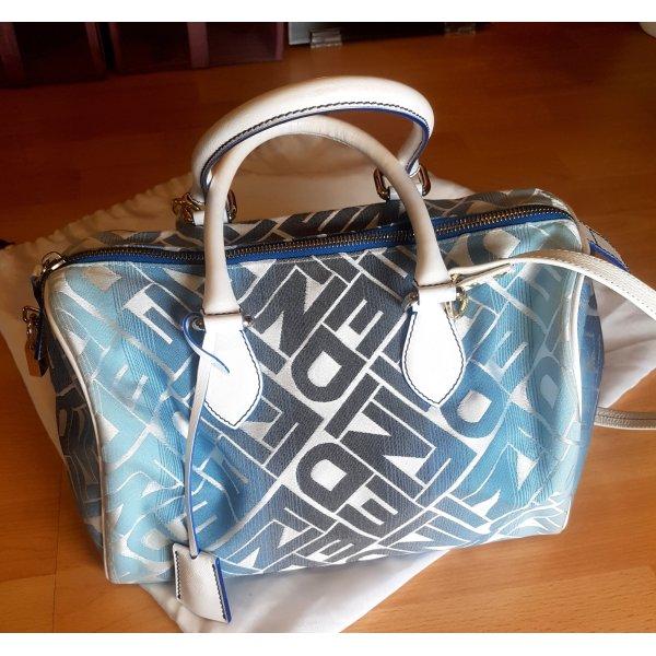 Fendi Handtasche blau weiß