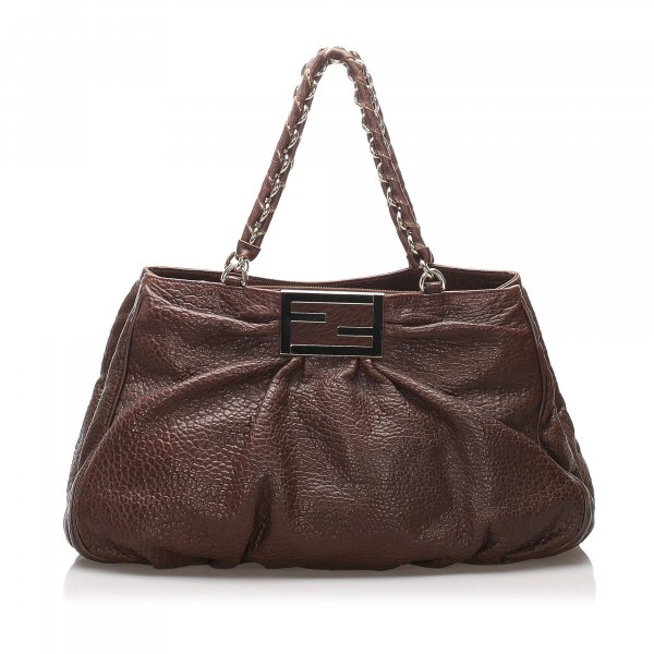 Fendi Leather Mia Shoulder Bag