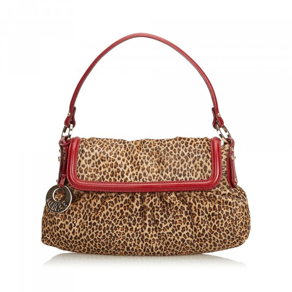 Fendi Leopard Print Pony Hair Chef Handbag