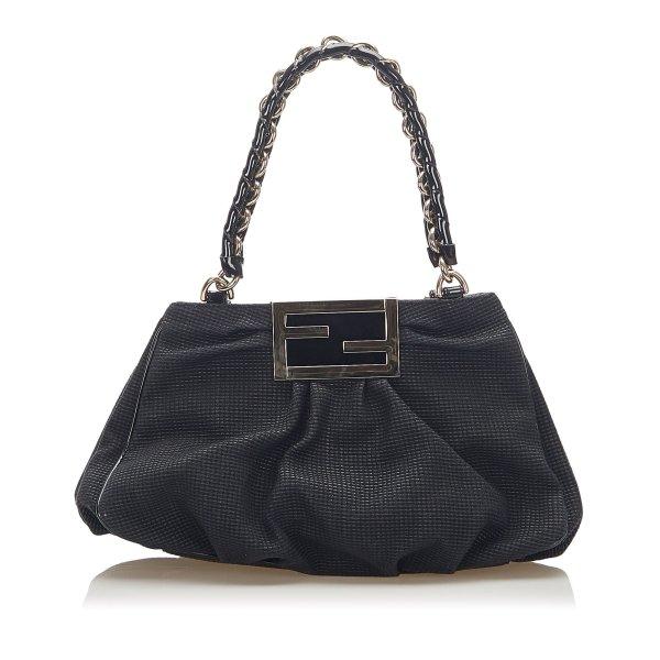 Fendi Mia Canvas Shoulder Bag