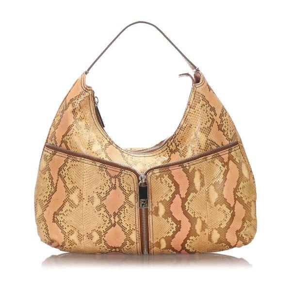 Fendi Python Leather Shoulder Bag