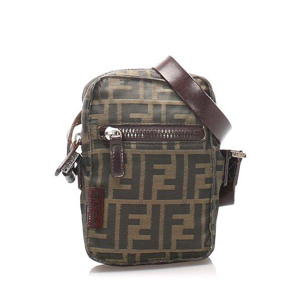 Fendi Zucca Canvas Crossbody Bag