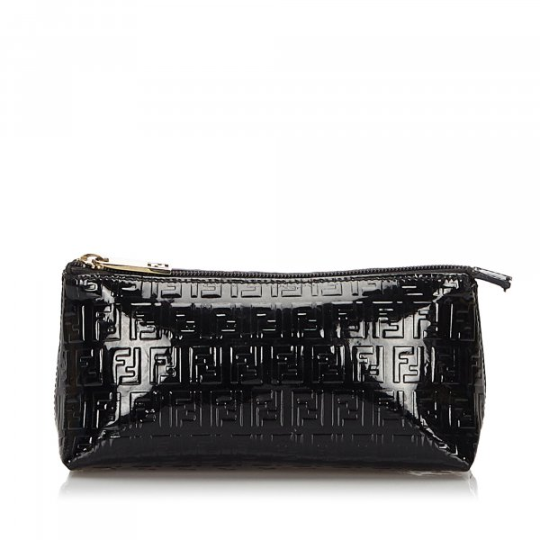 Fendi Zucchino Patent Leather Pouch