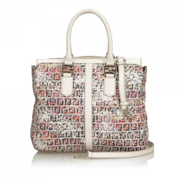 Fendi Zucchino Printed Canvas Handbag