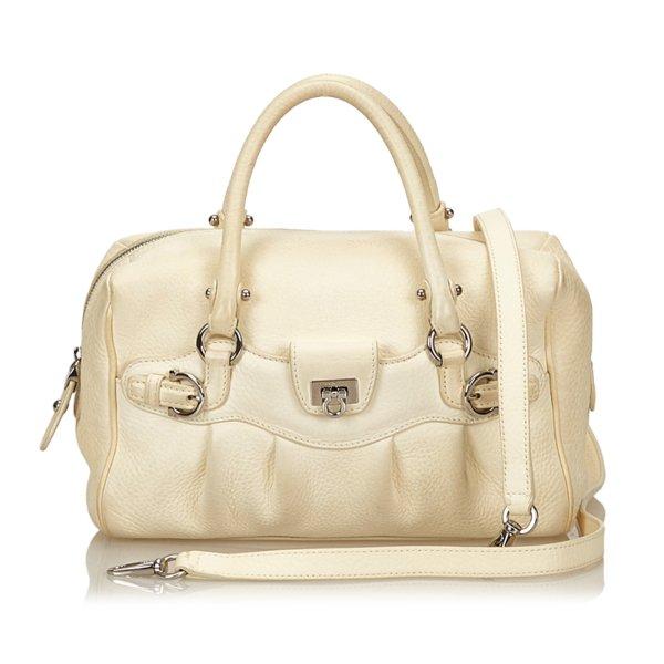 Ferragamo Leather Gancini Handbag