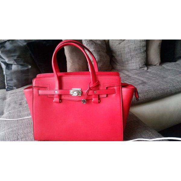 Fiorelli Carry Bag brick red-silver-colored imitation leather