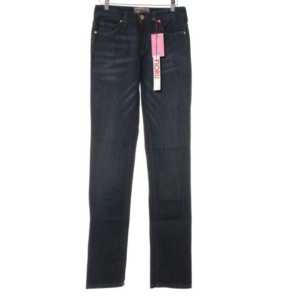 Fiorucci Slim Jeans dunkelblau Casual-Look
