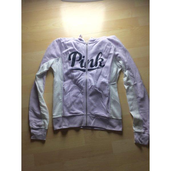 Fliederfarbene Sweatshirtjacke von Pink