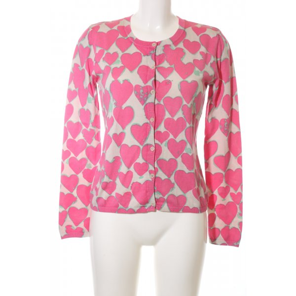 for friends only Cardigan pink-wollweiß Allover-Druck Casual-Look