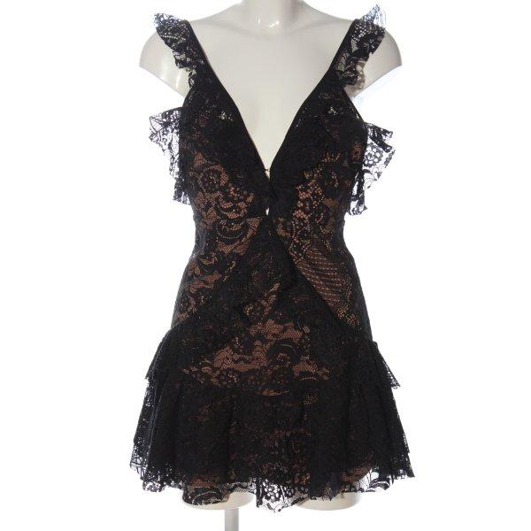 For Love & Lemons Minikleid schwarz-nude Elegant