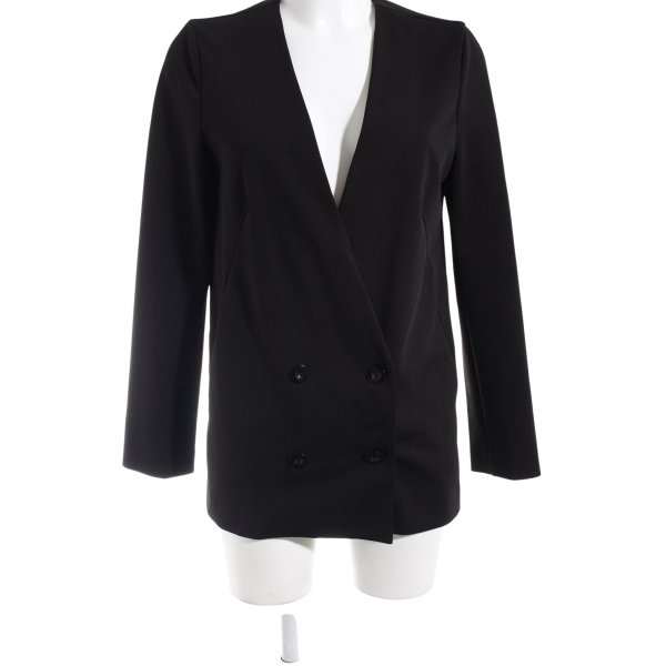 Forever 21 Long-Blazer schwarz Business-Look